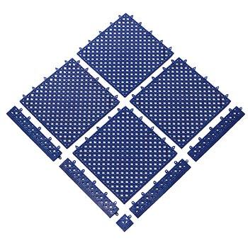 Modrá bazénová modulová rohož (dlaždice) Lok-Tyle - délka 30,5 cm, šířka 30,5 cm a výška 1,43 cm