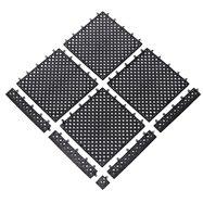Černá bazénová modulová rohož (dlaždice) Lok-Tyle - délka 30,5 cm, šířka 30,5 cm a výška 1,43 cm