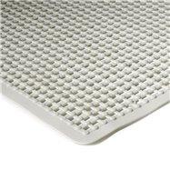 Bílá protiskluzová koupelnová vanová rohož FLOMA - délka 75 cm a šířka 35 cm