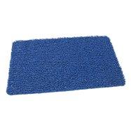 Modrá vinylová protiskluzová sprchová rohož FLOMA Spaghetti - délka 35 cm, šířka 59,5 cm a výška 1,2 cm