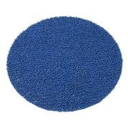 Modrá vinylová protiskluzová sprchová kulatá rohož FLOMA Spaghetti - průměr 54 cm a výška 1,2 cm