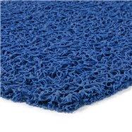 Modrá vinylová protiskluzová sprchová rohož FLOMA Spaghetti - délka 12 m, šířka 120 cm a výška 1,2 cm