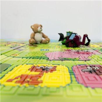 Dětská skládací pěnová hrací podložka Casmatino Piggy - délka 200 cm, šířka 140 cm a výška 0,9 cm
