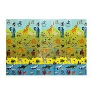 Dětská skládací pěnová hrací podložka Casmatino ABC Animals - délka 200 cm, šířka 140 cm a výška 1 cm