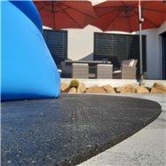 Gumová ochranná tlumící oválná podložka pod bazén, vířivku FLOMA PoolPad - délka 288,6 cm, šířka 193 cm a výška 0,8 cm