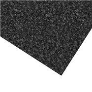 Černá kobercová čistící zóna FLOMA Valeria (Bfl-S1) - délka 200 cm, šířka 200 cm a výška 0,9 cm