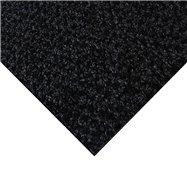 Černá kobercová čistící zóna FLOMA Alanis - délka 100 cm, šířka 100 cm a výška 0,75 cm