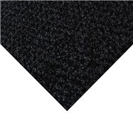 Černá kobercová čistící zóna FLOMA Alanis - délka 150 cm, šířka 200 cm a výška 0,75 cm