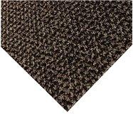 Hnědá kobercová čistící zóna FLOMA Alanis - délka 100 cm, šířka 100 cm a výška 0,75 cm
