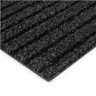 Černá kobercová čistící zóna FLOMA Shakira - délka 100 cm, šířka 100 cm a výška 1,6 cm