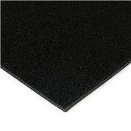Černá kokosová zátěžová čistící zóna FLOMA Synthetic Coco - délka 150 cm, šířka 100 cm a výška 1 cm