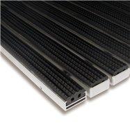 Gumová hliníková venkovní vstupní rohož FLOMA Alu Standard - délka 100 cm, šířka 100 cm a výška 1,7 cm
