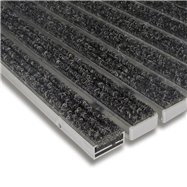 Textilní hliníková vnitřní vstupní rohož FLOMA Alu Standard - délka 100 cm, šířka 100 cm a výška 1,7 cm