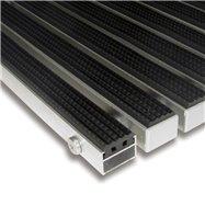 Gumová hliníková venkovní vstupní rohož FLOMA Alu Standard - délka 100 cm, šířka 100 cm a výška 2,2 cm