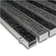 Textilní hliníková vnitřní vstupní rohož FLOMA Alu Standard - délka 100 cm, šířka 100 cm a výška 2,2 cm