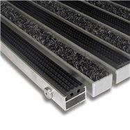 Textilní gumová hliníková vnitřní vstupní rohož FLOMA Alu Standard - délka 100 cm, šířka 100 cm a výška 2,2 cm