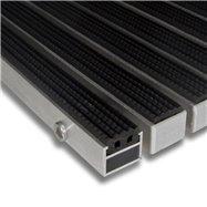 Gumová hliníková venkovní vstupní rohož FLOMA Alu Standard - délka 100 cm, šířka 100 cm a výška 2,7 cm