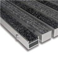 Textilní hliníková vnitřní vstupní rohož FLOMA Alu Standard - délka 100 cm, šířka 100 cm a výška 2,7 cm