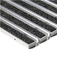 Textilní hliníková kartáčová vnitřní vstupní rohož FLOMA Alu Extra - délka 100 cm, šířka 100 cm a výška 1,7 cm