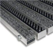 Textilní hliníková kartáčová vnitřní vstupní rohož FLOMA Alu Extra - délka 100 cm, šířka 100 cm a výška 2,2 cm