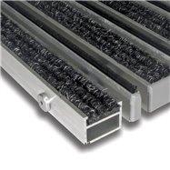 Textilní hliníková kartáčová vnitřní vstupní rohož FLOMA Alu Extra - délka 100 cm, šířka 100 cm a výška 2,7 cm