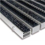Hliníková textilní vnitřní kartáčová vstupní rohož FLOMA Alu Extra - délka 100 cm, šířka 100 cm a výška 2,7 cm