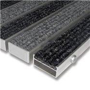 Textilní hliníková vnitřní vstupní rohož FLOMA Alu Wide - délka 100 cm, šířka 100 cm a výška 2,2 cm