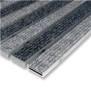 Hliníková textilní vnitřní vstupní rohož FLOMA Alu Low - délka 100 cm, šířka 100 cm a výška 1 cm