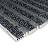 Textilní hliníková kartáčová vnitřní vstupní rohož FLOMA Alu Low Extra - délka 100 cm, šířka 100 cm a výška 1 cm
