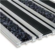Textilní gumová hliníková vstupní rohož FLOMA Wella - délka 100 cm, šířka 100 cm a výška 1,4 cm