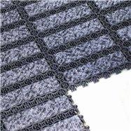 Černá plastová vnitřní čistící vstupní rohož FLOMA - délka 20,5 cm, šířka 20,5 cm a výška 1,1 cm
