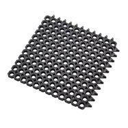 Černá gumová čistící modulová vstupní rohož na hrubé nečistoty Master Flex D23 - délka 50 cm, šířka 50 cm a výška 2,3 cm