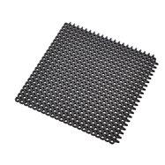 Černá gumová čistící modulová vstupní rohož Master Flex D12 - délka 50 cm, šířka 50 cm a výška 1,2 cm