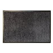 Šedá textilní vnitřní čistící antibakteriální vstupní rohož - délka 90 cm, šířka 60 cm a výška 0,9 cm