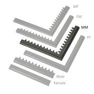 """Černá náběhová hrana """"samec"""" MF Safety Ramps D23/C23 - délka 100 cm a šířka 6 cm"""