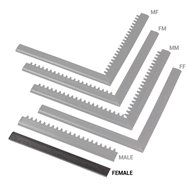 """Černá náběhová hrana """"samice"""" MF Safety Ramps D12/C12 Nitrile - délka 50 cm a šířka 5 cm"""