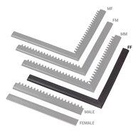 """Černá náběhová hrana """"samice"""" MF Safety Ramps D12/C12 Nitrile - délka 100 cm a šířka 5 cm"""