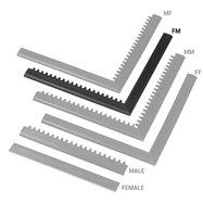 """Černá náběhová hrana """"samice"""" """"samec"""" MF Safety Ramps D12/C12 Nitrile - délka 100 cm a šířka 5 cm"""