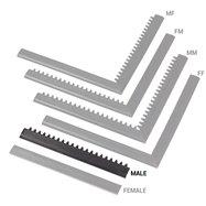 """Černá náběhová hrana """"samec"""" MF Safety Ramps D12/C12 Nitrile - délka 50 cm a šířka 5 cm"""