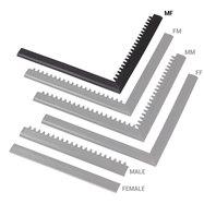 """Černá náběhová hrana """"samec"""" """"samice"""" MF Safety Ramps D12/C12 Nitrile - délka 100 cm a šířka 5 cm"""