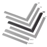 """Černá náběhová hrana """"samec"""" MF Safety Ramps D12/C12 Nitrile - délka 100 cm a šířka 5 cm"""