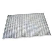 Kovová venkovní čistící vstupní rohož FLOMA Grid - délka 40 cm, šířka 60 cm a výška 3 cm