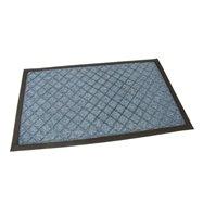 Modrá textilní venkovní čistící vstupní rohož FLOMA Diamonds - délka 45 cm, šířka 75 cm a výška 1 cm