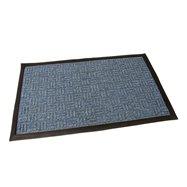 Modrá textilní venkovní čistící vstupní rohož FLOMA Criss Cross - délka 45 cm, šířka 75 cm a výška 1 cm