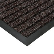 Hnědá textilní vnitřní čistící zátěžová vstupní rohož FLOMA Shakira - délka 60 cm, šířka 80 cm a výška 1,6 cm