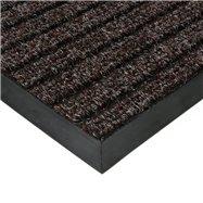 Hnědá textilní vnitřní čistící zátěžová vstupní rohož FLOMA Shakira - délka 70 cm, šířka 100 cm a výška 1,6 cm