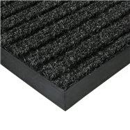 Černá textilní vnitřní čistící zátěžová vstupní rohož FLOMA Shakira - délka 300 cm, šířka 200 cm a výška 1,6 cm