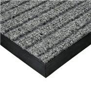 Šedá textilní vnitřní čistící zátěžová vstupní rohož FLOMA Shakira - délka 200 cm, šířka 150 cm a výška 1,6 cm