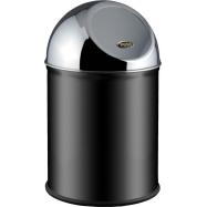 Odpadkový koš typu Push ALDA Clean World 8 l, černý