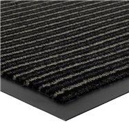 Šedá vnitřní čistící vstupní rohož FLOMA Scala - délka 80 cm, šířka 120 cm a výška 0,5 cm